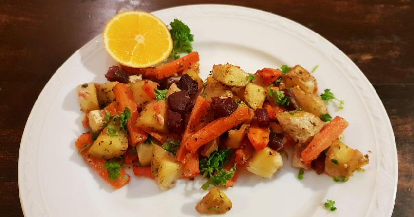 Groenten uit de oven hoofdgerecht wortelen recept vegetarisch weekmenu