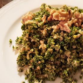 Kauw boerenkool roerbakken vegan vegetarisch weekmenu