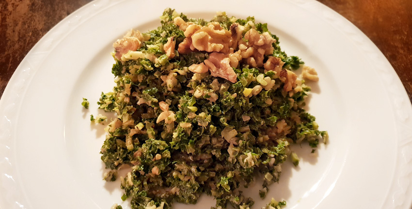 boerenkool zilvervliesrijst vegan vegetarisch weekmenu