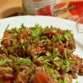 Silken tofu recept wortelen kastanjepuree vegan vegetarisch weekemenu
