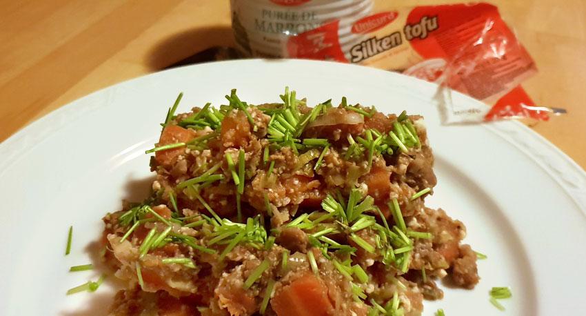 Silken tofu recept wortelen kastanjepuree vegan vegetarisch weekmenu