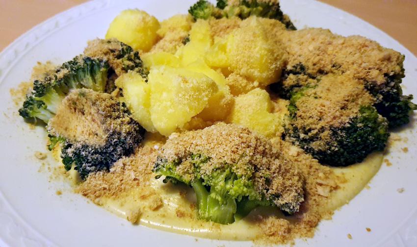 Broccoli met beschuit recept kaassaus Vegetarisch Weekmenu