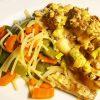 Vegan shoarma wortelen peultjes koolrabi vegetarisch