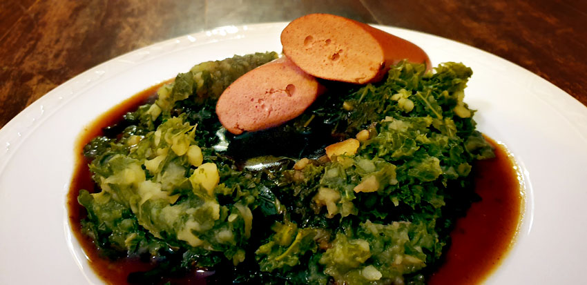 Vegan boerenkoolstamppot vegetarische rookworst vegetarisch weekmenu