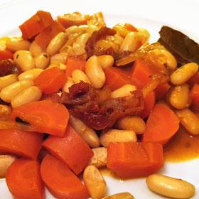 Baked beans witte bonen stoofpotje wortelen recept vegan weekmenu