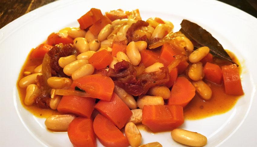 Baked beans witte bonen weken BBQ vegetarisch weekmenu
