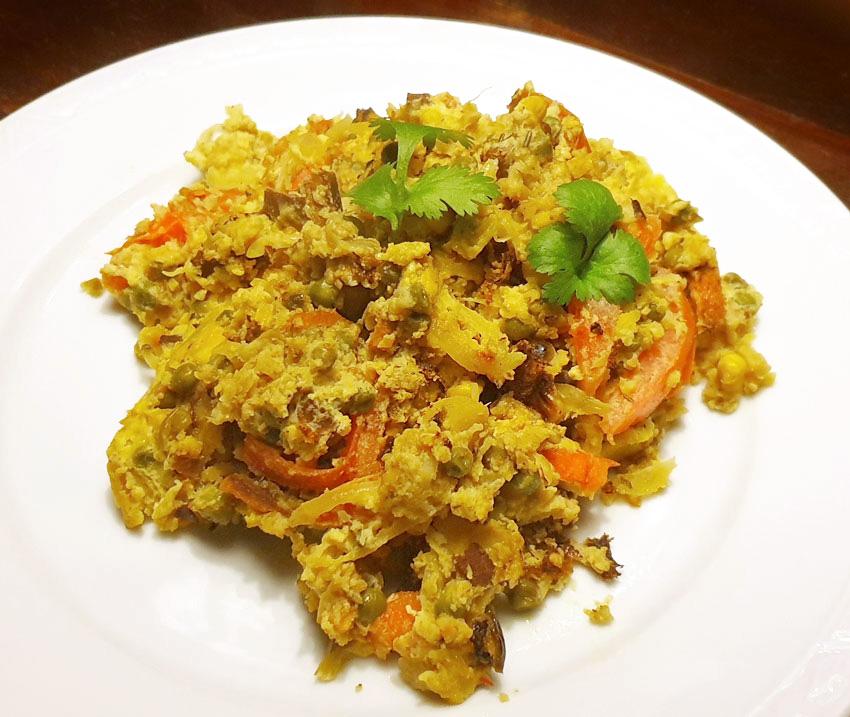 Ei met restjes eten koken foodwaste Vegetarisch Weekmenu