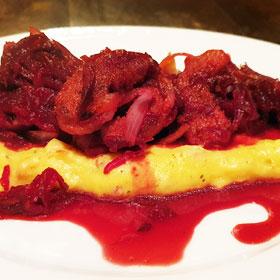 Hartige polenta recept zoete rode bieten vegetarisch