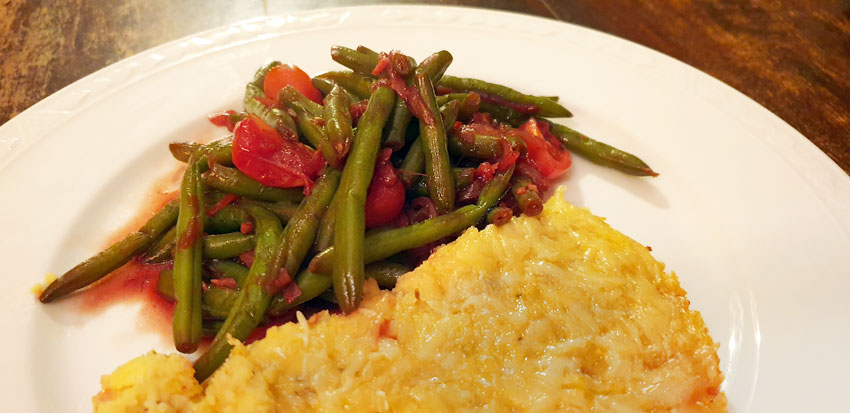 Polenta recept uit de oven sperziebonen vegetarisch