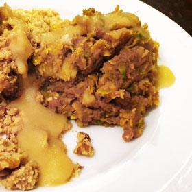 Tamme kastanje hoofdgerecht vegan vegetarisch weekmenu