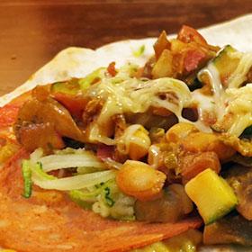 Wraps met witte bonen vegetarian pepperoni vegetarisch