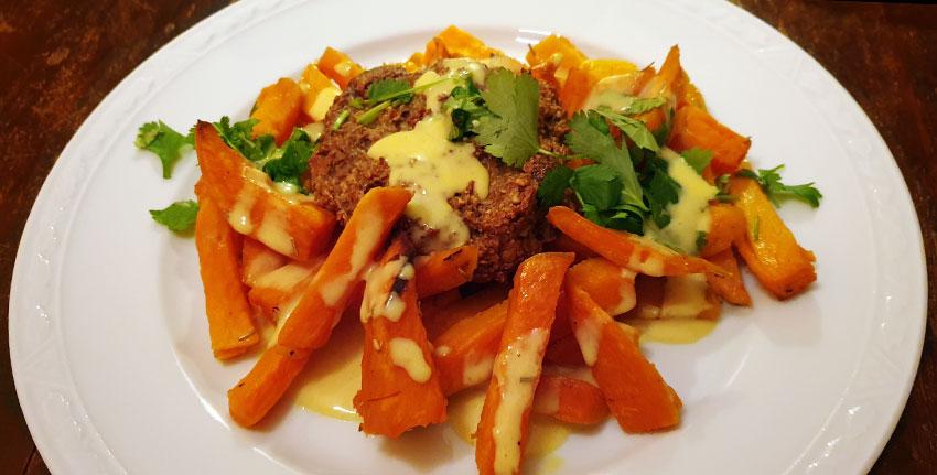Zoete aardappel oven linzenburger zelf maken vegetarisch weekmenu