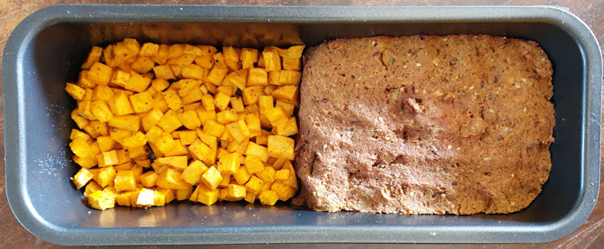 Meatloaf Naturli zoete aardappel oven bakblik vegetarisch