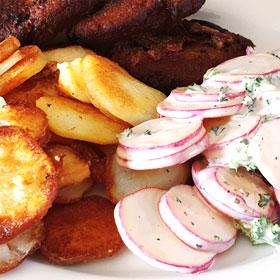 Radijs salade recepten aardappels Vegetarisch weekmenu