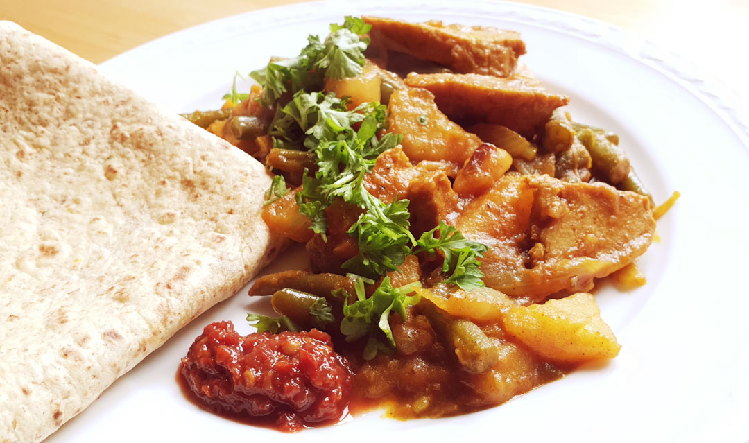 Roti massala recept filets als van kip vegetarisch