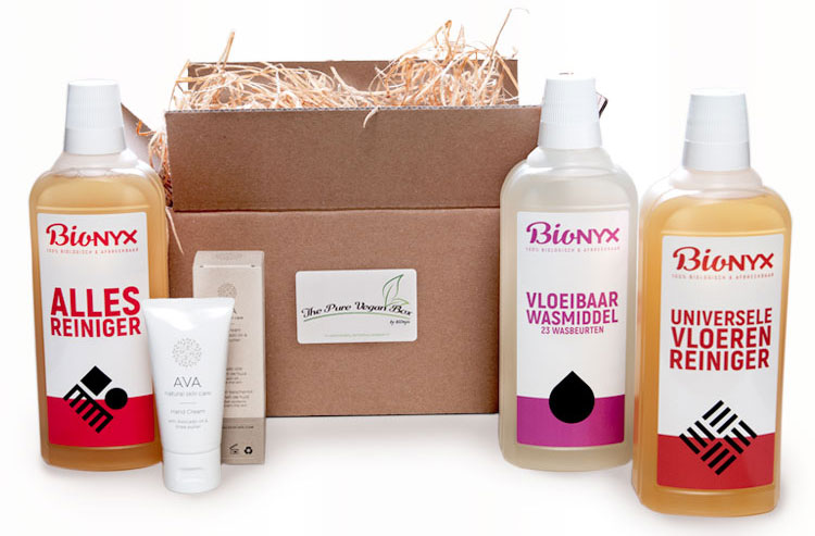 Vegan giftbox The Pure Veganbox BIOnyx De Duurzame Kaart