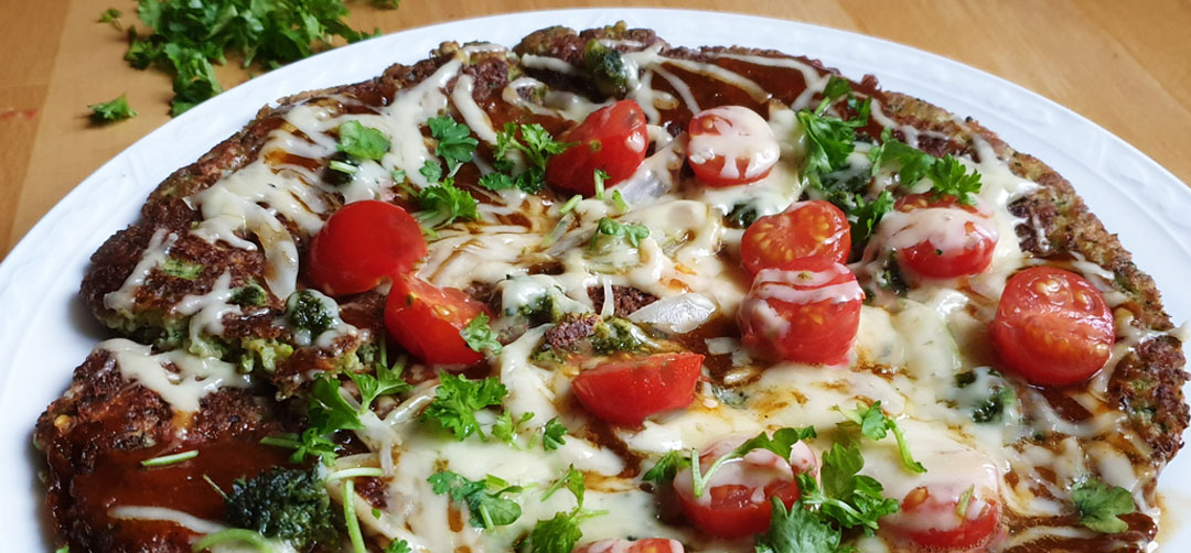 Vegetarische broccoli pizza pan vegetarisch weekmenu