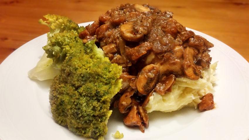 broccoli koken aardappelpuree recept champignons pecannoten saus Vegetarische Weekmenu