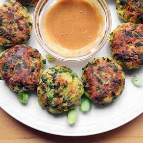 Aardappel groente balletjes voedselverspilling