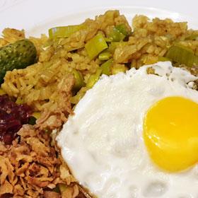Vegetarische nasi recept sambal
