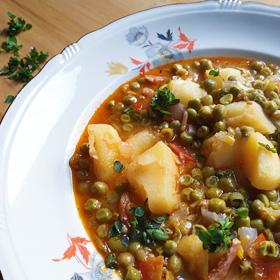 Maaltijdsoep recept doperwten vegetarisch weekmenu