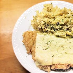 Aardappel rösti makkelijk recepten zoet-zure witte kool Vegetarisch Weekmenu