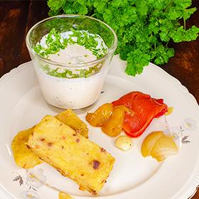Polenta recepten gepofte knoflook vegetarisch recept
